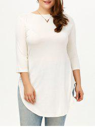 Asymmetrical Plus Size Tunic Top