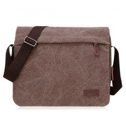 Casual Flap Canvas Messenger Bag -