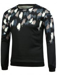 Rib Garniture Imprimé Sweat-shirt