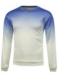 Crew Neck Gradient Color Sweatshirt