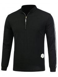 Half Zip Elastic Long Sleeve Top