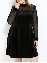 Velvet A Line Plus Size Dress