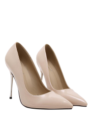 Patent Leather Stiletto Heel Pumps -