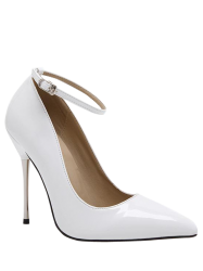 Stiletto Heel Ankle Strap Pumps