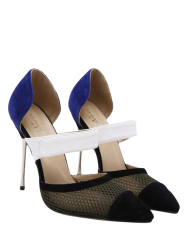 Pointed Toe Mesh Pumps