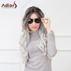 Adiors Long Wavy Gradient Middle Part Synthetic Wig