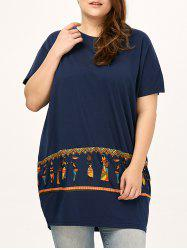 Plus Size Egyptians Printed Long Tee