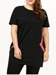 Plus Size Short Sleeve Tunic T-Shirt