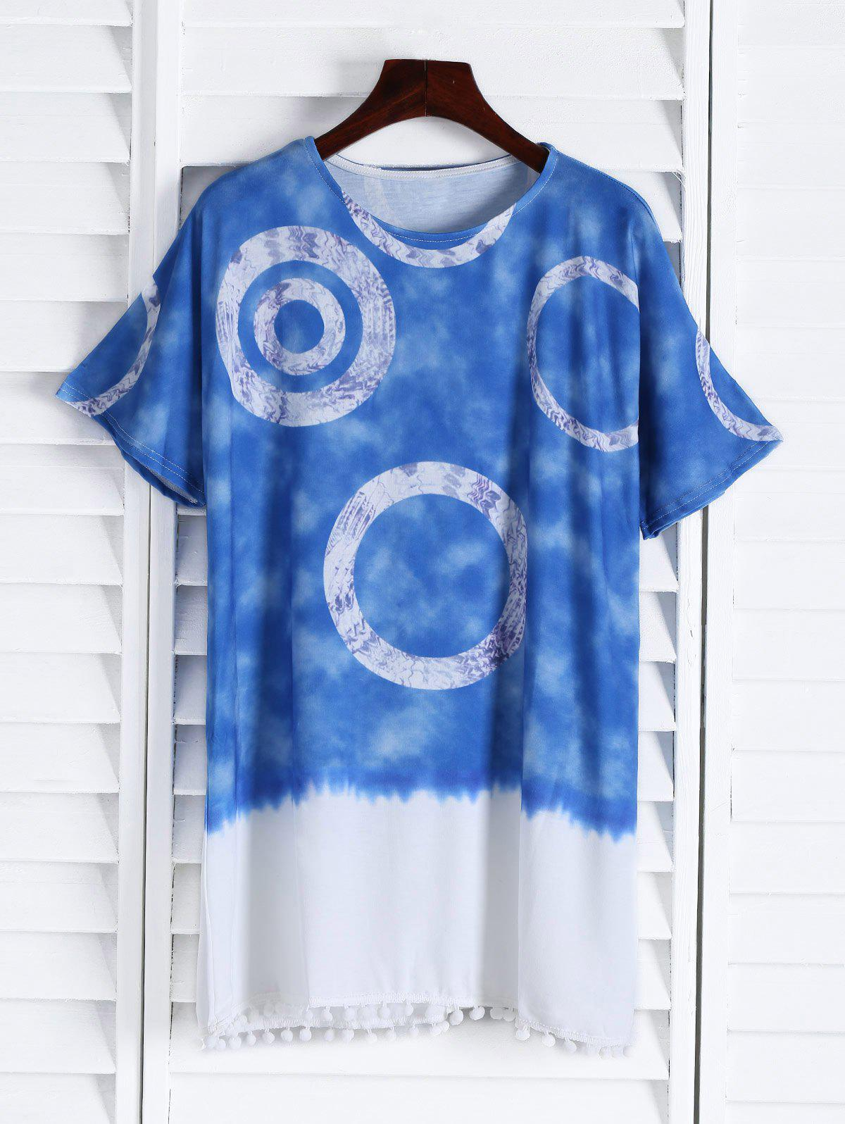 Fancy Casual Round Neck Short Sleeve Color Block Women's Straight Dress