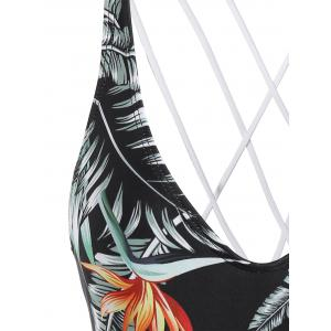 Tropical Printed Strappy One Piece Swimsuit -