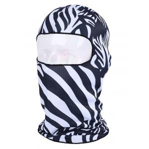 Multifunction Animal Printed Bicycle Head Mask Cap - ZEBRA STRIPE