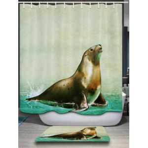 ... Sea Lion Animal Shower Curtain With Hooks