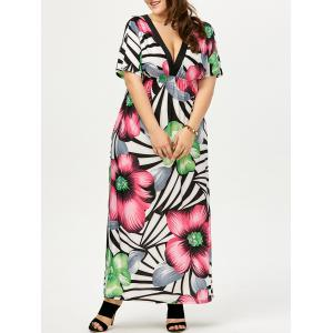 Plus Size Maxi Floral Bohemian Dress