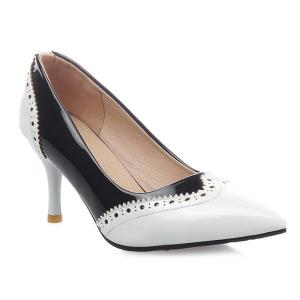 Patent Leather Engraving Pumps