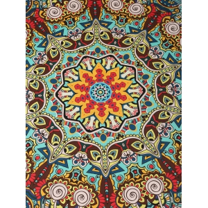 Sunbath Rectangle Printed Beach Throw - COLORMIX ONE SIZE