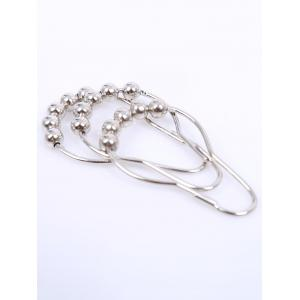 Stainless Steel Beads Designs Shower Hooks - SILVER