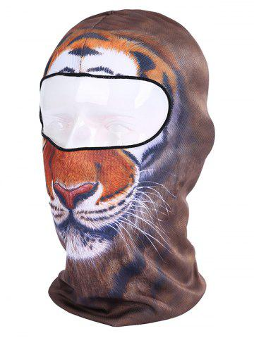 Outfit Multifunction Animal Printed Bicycle Head Mask Cap - BROWN  Mobile
