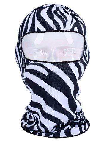 Buy Multifunction Animal Printed Bicycle Head Mask Cap ZEBRA STRIPE