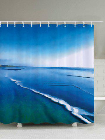 Outfits Sea Print Waterproof Polyester Fabric Shower Curtain - 200*180CM LAKE BLUE Mobile