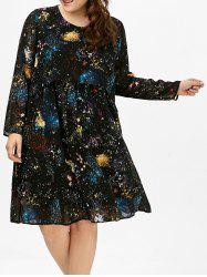 Chiffon Long Sleeve Plus Size Dress