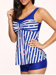 Striped Padded Tankini Bathing Suit