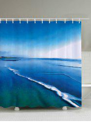 Sea Print Waterproof Polyester Fabric Shower Curtain