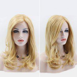 Long Side Part Slightly Curled Lace Front Synthetic Wig