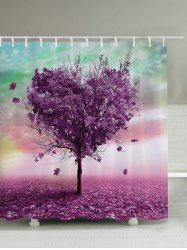 Heart Shaped Tree Waterproof Mouldproof Bath Curtain