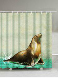 Sea Lion Animal Shower Curtain with Hooks