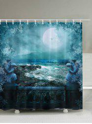 Bath Decor European Moonlit Night Shower Curtain