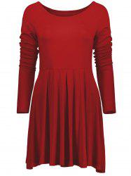 Raglan Sleeve Fit and Flare Dress