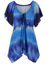 Plus Size Empire Waist Butterfly Sleeve Blouse