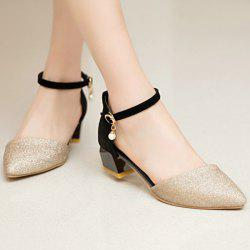 Glitter Two Piece Faux Pearl Pumps