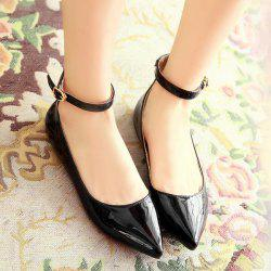 Ankle Strap Pointed Toe Flat Shoes