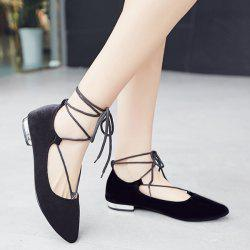 Pointed Toe Velvet Flat Shoes