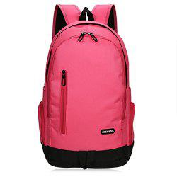 Casual Zips Detail Nylon Backpack