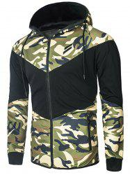 Sports Camo Zip Up Hoodie