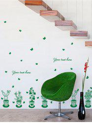 Greenery Wall Stickers For Window Door Decor