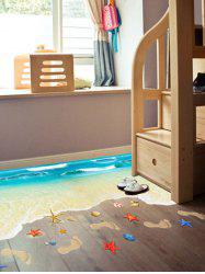 Beach Floor Decor Wall Sticker - LAKE BLUE