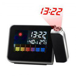 Multifunction Weather Display Projection LED Alarm Clock