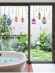 Colorful Droplight Glass Window Decor Wall Stickers