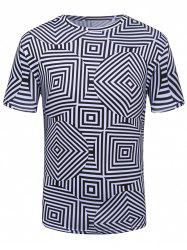 3D Labyrinth Geometric Print Trippy T-Shirt