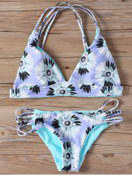 Sunflower Padded Strappy Bikini Set