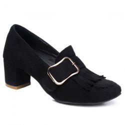 Belt Buckle Mid Heel Pumps