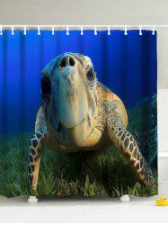 3D Sea Turtle Shower Curtain with Hooks