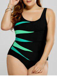 Plus Size Graphic Fitted One-Piece Swimsuit -