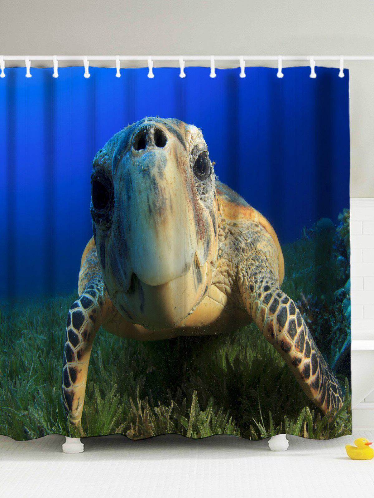 Shop 3D Sea Turtle Shower Curtain With Hooks