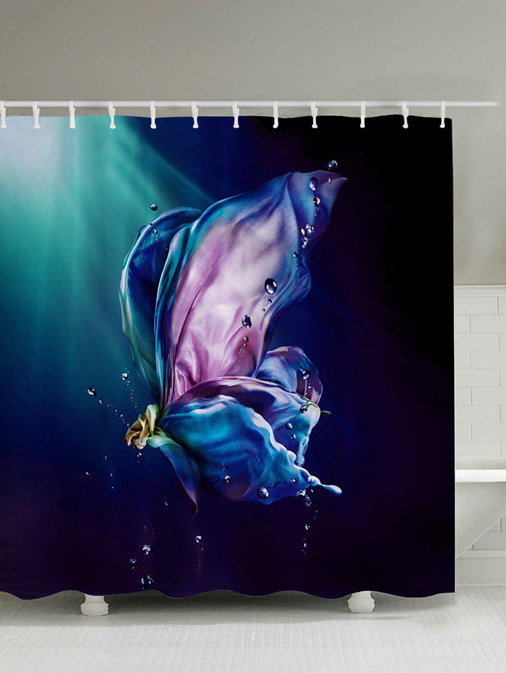 Fashion Thicken Waterproof Shower Curtain With Hooks
