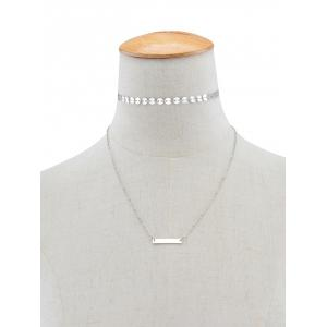 Sequins Bar Layered Pendant Necklace