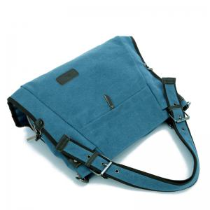 Canvas Buckle Strap Shoulder Bag -